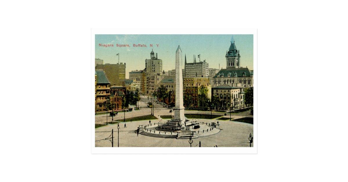 niagara square buffalo ny vintage postcard zazzle