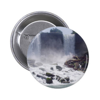 Niagra Falls And View Of American Side From Canada Button