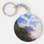 Niagra Falls Basic Round Button Keychain