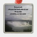Niagra falls Nature words ornaments