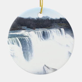 Niagra Falls products Double-Sided Ceramic Round Christmas Ornament