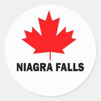 Niagra Falls Round Stickers