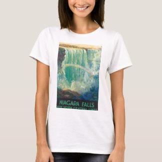 Niagra Falls Vintage Travel Poster Artwork T-Shirt