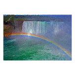 Niagra waterfalls rainbow poster