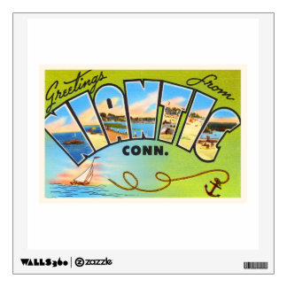 Niantic Connecticut CT Old Vintage Travel Souvenir Wall Decal
