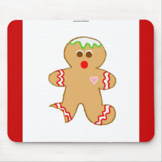 Nibbled Gingerbread Man Mouse Pad