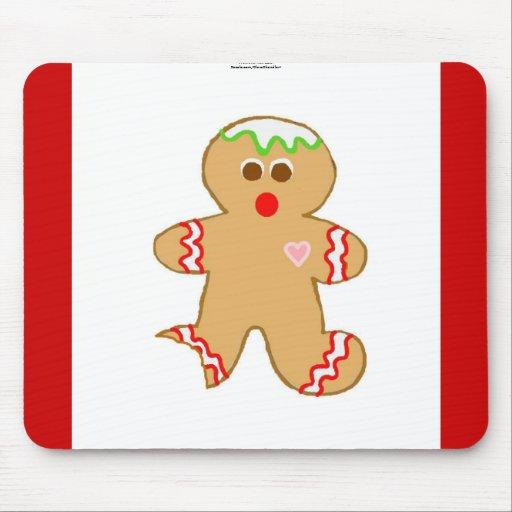 Nibbled Gingerbread Man Mouse Mats