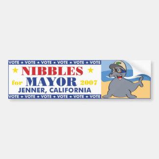 Nibbles for Mayor Bumper Sticker Car Bumper Sticker