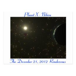 Nibiru Postcard - Sun, Earth And Nibiru (Planet X)