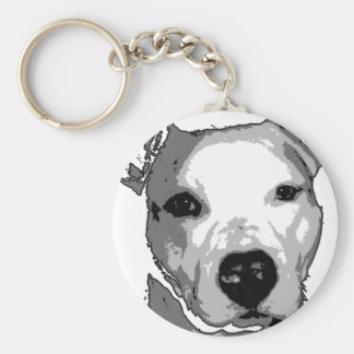 Nibs the Pit Bull Basic Round Button Keychain