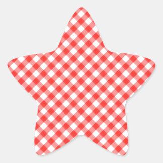 NIC clásico rojo de la imagen del modelo de la Calcomania Cuadrada Personalizada