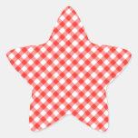 NIC clásico rojo de la imagen del modelo de la Pegatina En Forma De Estrella