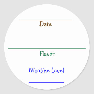 Nic-Juice Labels Classic Round Sticker