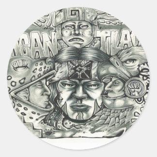 Nicantlaca (Native) Classic Round Sticker