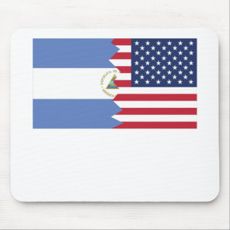 Nicaragua American Flag Mouse Pad