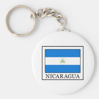 Nicaragua Basic Round Button Keychain