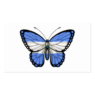 Nicaragua Butterfly Flag Business Card Template