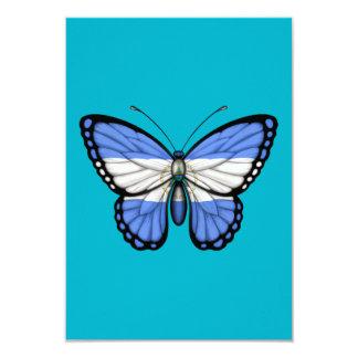 Nicaragua Butterfly Flag Card