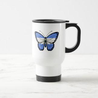 Nicaragua Butterfly Flag Travel Mug