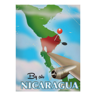 Nicaragua By Air vacation poster