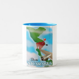 Nicaragua By Air vacation poster Two-Tone Coffee Mug
