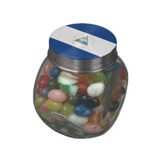Nicaragua Glass Candy Jar