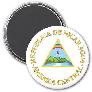 Nicaragua COA 3 Inch Round Magnet
