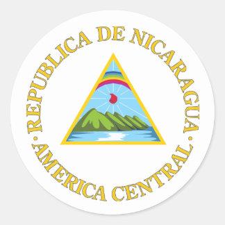 Nicaragua COA Classic Round Sticker
