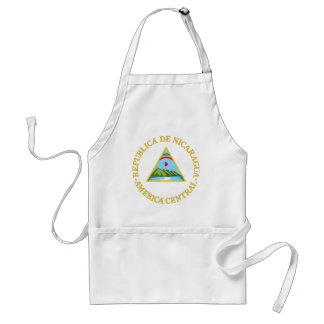 Nicaragua coat of arms adult apron