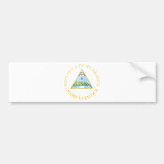 Nicaragua Coat Of Arms Car Bumper Sticker