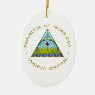 Nicaragua Coat of Arms Ceramic Ornament