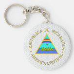 Nicaragua Coat of Arms detail Keychain