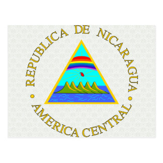 Nicaragua Coat of Arms detail Postcard