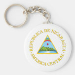 Nicaragua coat of arms keychains