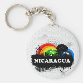 Nicaragua con sabor a fruta linda llavero redondo tipo pin