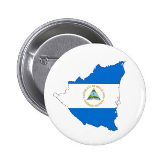 nicaragua country flag map shape symbol button