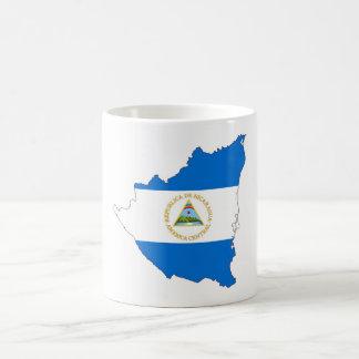 nicaragua country flag map shape symbol coffee mug