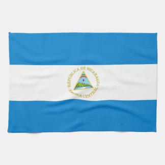 nicaragua country flag towel