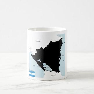 nicaragua country political map flag coffee mugs