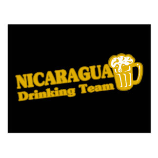 Nicaragua Drinking Team Postcard