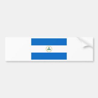 Nicaragua Flag Car Bumper Sticker