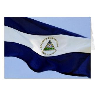 nicaragua flag card