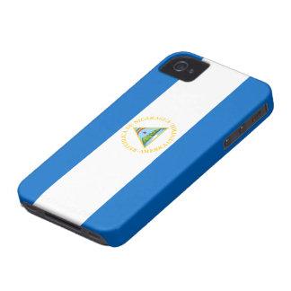 Nicaragua Flag iPhone 4 Case-Mate Case