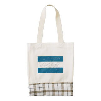 Nicaragua Flag (Distressed) Zazzle HEART Tote Bag