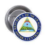 NICARAGUA -  flag/emblem/coat of arms/symbol Pinback Button
