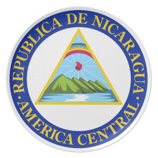 NICARAGUA Flagemblemcoat Of Armssymbol Plate Zazzle