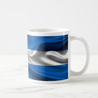 Nicaragua Flag Fabric Coffee Mug
