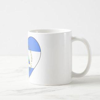 Nicaragua Flag Heart Coffee Mug