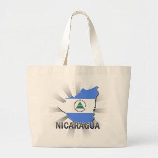 Nicaragua Flag Map 2.0 Bags
