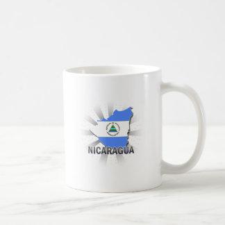 Nicaragua Flag Map 2.0 Coffee Mug